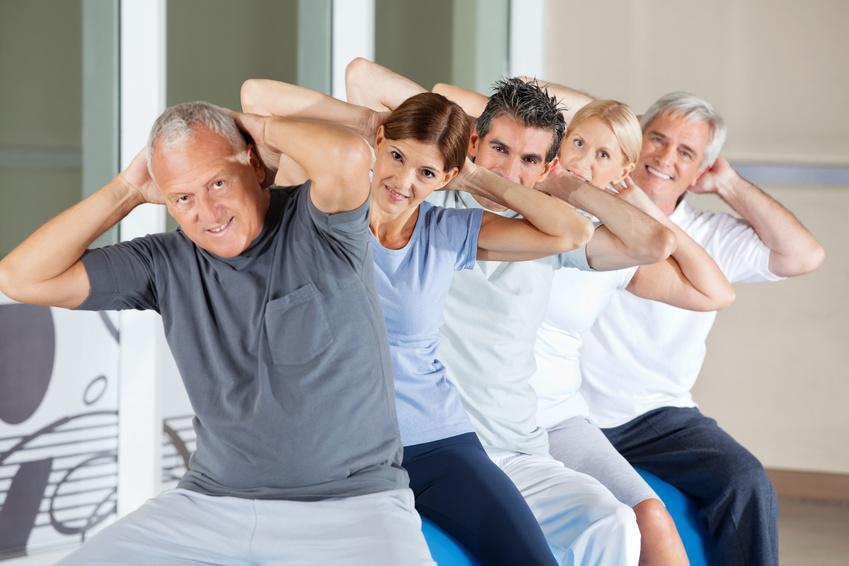 trainieren im Rückenkurs